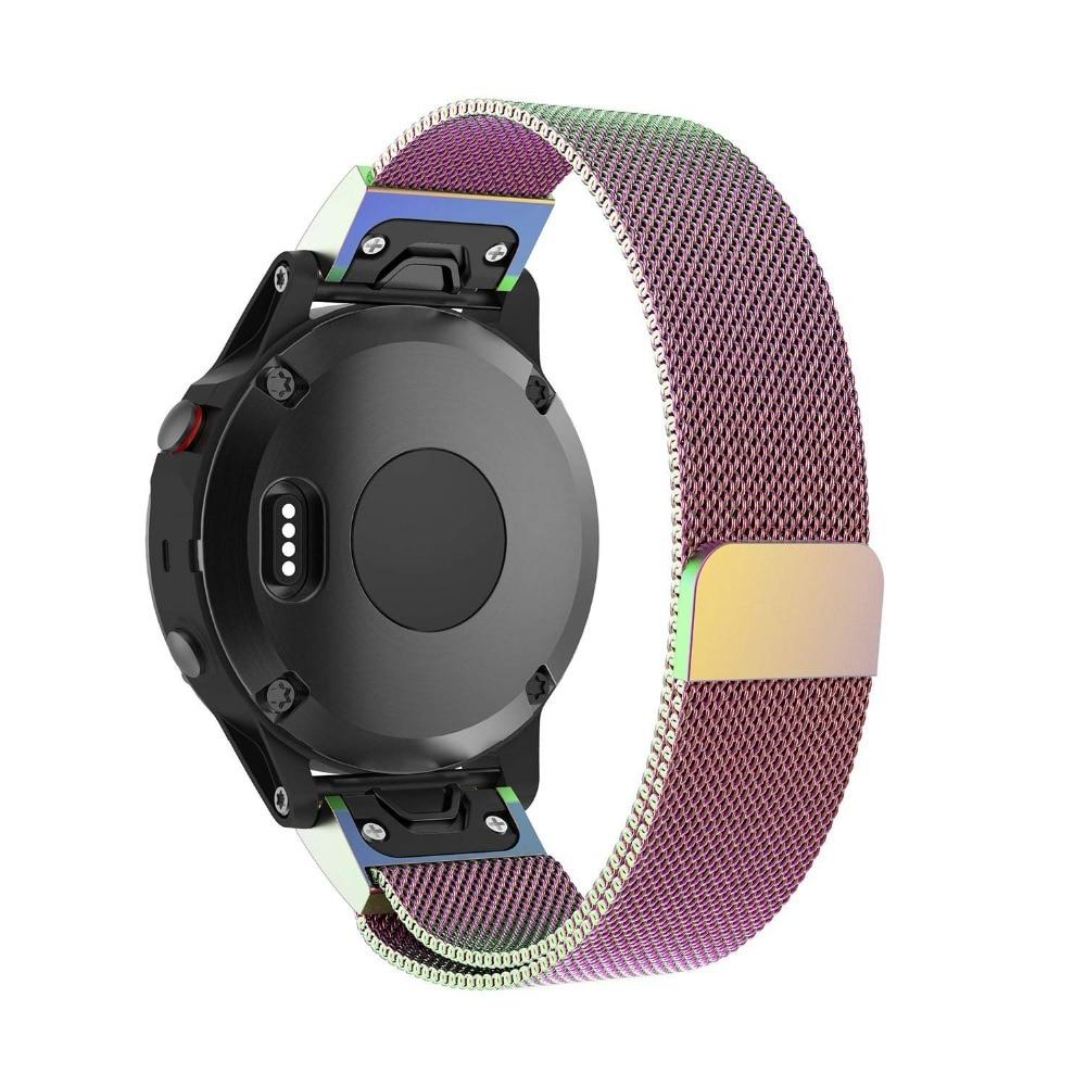 Milanese Loop Stainless Steel Mesh Replacement Bracelet Strap for Garmin Fenix 5x Fenix 3 Smart Watch Small Large 9.26 (7)