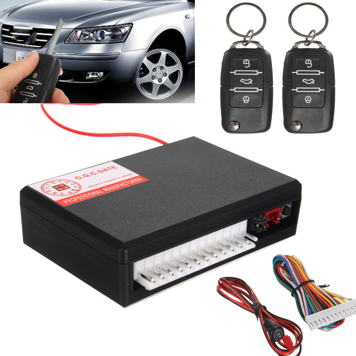 2017 New Universal Car Vehicle Remote Control Central Kit Door Lock Locking Keyless Entry Theft System<br><br>Aliexpress