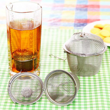 3 Sizes Silver Reusable Durable 304 Stainless Mesh Herbal Ball Tea Spice Strainer Teakettle Locking Tea Filter Infuser Spice