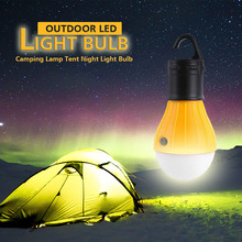 4 Colors LED Camping Lamp 800 Lumens Night Light Bulb Outdoor Lighting Tent Hanging Lamp Portable Hiking Fishing Camping Light