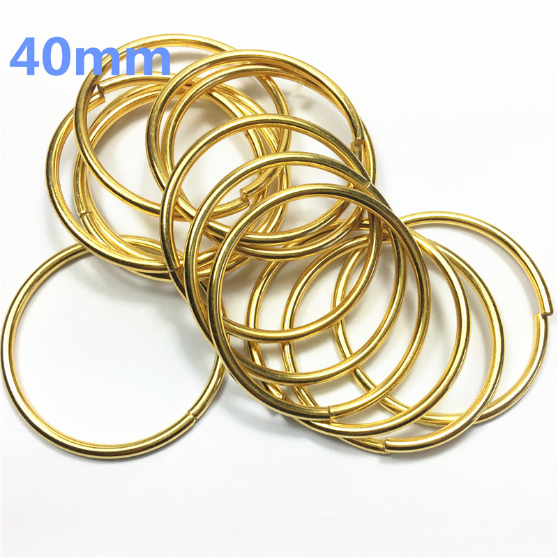 12-40mm gold Metal O Ring Backpack connector Harness Rings Bag Parts Accessories