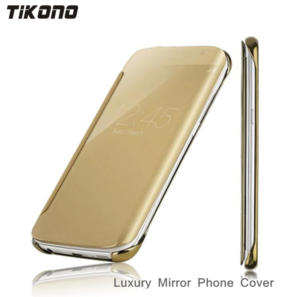 Luxury Mirror Case For Samsung S7 S7edge Clear View Window Flip Hard Back Case Cover For Samsung S6 S6edge Plus Cell Phone Case(China (Mainland))