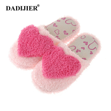 DADIJIER 2017 Indoor Slipper Cotton Linen Home Shoes Women Flat Flip Flops Breathable Soft Floor Autumn Winter Slippers ST218(China)