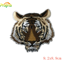Custom Skull White Tiger Patch Biker DIY Logo Iron On Punk Rock Cheap Embroidered Patches For Clothes Stickers Applique Badges