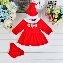 3pcs/set In Stock Christmas Girl Clothing Set Fashion Toldder's New year clothing set  Kids Trendy Snow Christmas Clothes Set