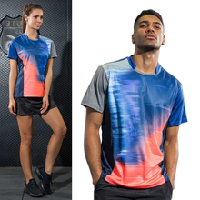 2017 Women/Men table tennis clothes training Patchwork T Shirts fitness Sportswear Quick Dry breathable badminton shirt