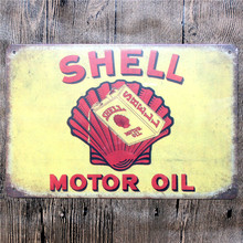 Vintage Home Decor Shell Motor Oil Vintage Metal Tin Signs Retro Metal Sign Decor The Wall of Cafe Bar Home Custom Neon Sign
