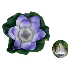 Purpel Solar Lotus Pond Water Bleaching Light Novelty Night Light Glow Party Supplies Children Gifts