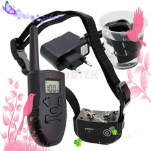 300m Remote  Rechargeable And Waterproof Electronic Dog Training Collar H183DR With LCD Display Support 3 Dogs New Version 998DR