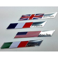 Aluminum alloy flag car stickers For VW Golf 4 5 6 7 mk2 mk3 mk4 mk7 grips clubs For Audi A4 B6 Q5 B8 For BMW E46 E39 E60 E90