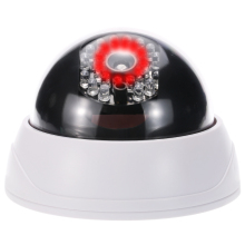 Dummy Security Camera Simulation Dome Fake Camera Red LED Blinking Light CCTV Security Camera For House Office Market