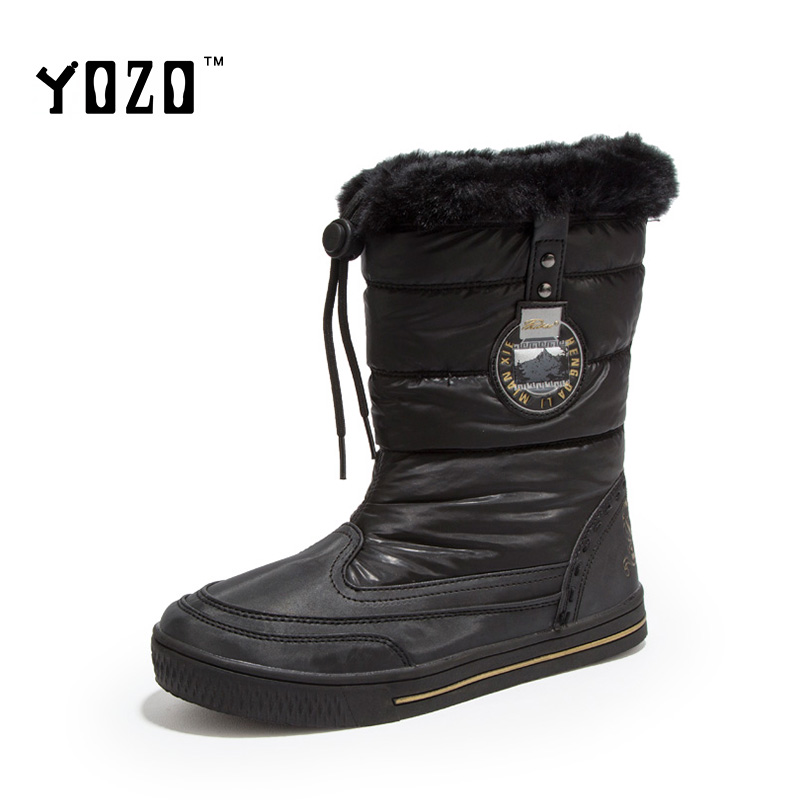 Women Boots Fashion Slip On Warm Fur Snow Boots Women Waterproof Winter Boots Flat Casual Shoes Brand Shoes Women Zapatos Mujer<br><br>Aliexpress