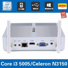 Fanless Mini PC Windows 8 Nano PC i3 5005u Barebone System Nuc Mini HDMI Computer Core i3 HTPC Kodi Linux Computer Mini itx pc(China)