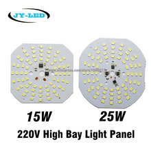 5pcs 15W 25W 220V Lamp Plate Needn't Driver Light Source Panel, SMD 5730 2835 High Bay Light LED PCB(China)