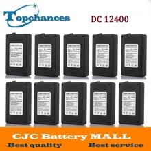 Wholesale 10x DC12400 Protable 4000mAh for DC 12V Super Rechargeable Switch Li-ion Battery Pack With Case For Cameras camcorders(China)