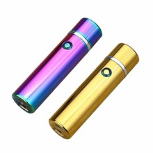 2 Colors Electric Windproof Flameless USB Lighter Dual Arc Cigarette Cigar Rechargeable Stereo Metal Ignition Lighters(China)