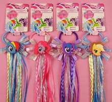 Little Ponys Braid Wig Elastic Hair Band Headdress Rubber Band Birthday Party Cosplay Hair Accessories