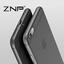 ZNP Luxury Hard Back matte soft phone Cases for iPhone 7 6 6s Full Cover case Full coque Cover for Apple iphone 6 6S Plus case
