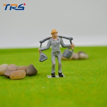 20pcs scale 1:50 model worker painted figure railway scale model plastic workers for architectural train layout
