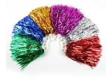Free Shipping.Cheering pompom cheerleading Metallic pom pom Cheerleading products,20G,7 colours