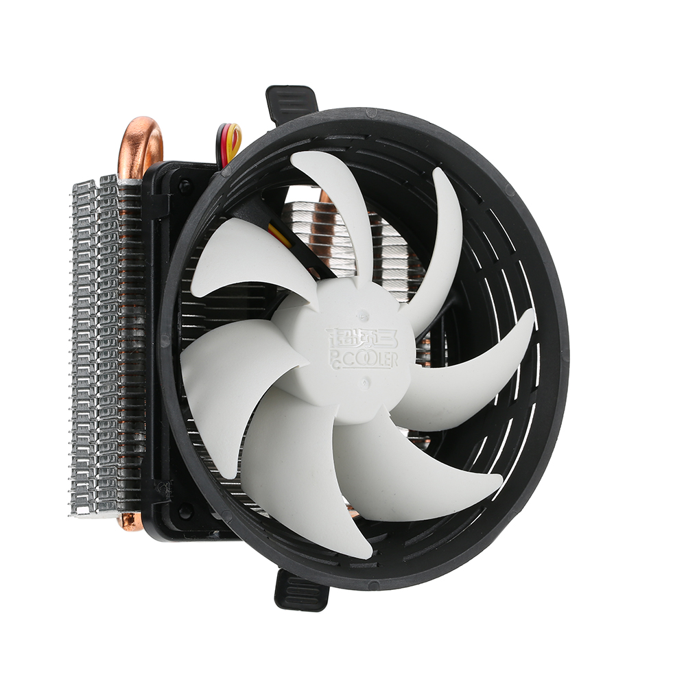 PCCOOLER 2 Heatpipes Radiator Quiet 3pin Mini CPU Cooler Heatsink Fan Cooling with 100mm Fan for Desktop Computer(China (Mainland))