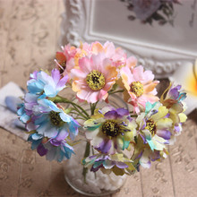 6 PCS DY simulation material making handmade hair decoration crafts straw hat flowers artificial flowers Color francois chrysant(China)
