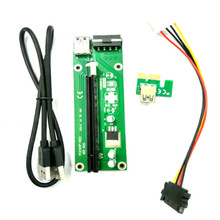 1 piece PCI E Express 1X to 16X graphics card Riser Card USB 3.0 Extender Cable with Power Supply