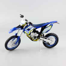 1 12 scale Children's KTM HUSABERG FE390 Motorcycle Motocross Dirt Bike superbike enduro Diecast metal model race Cars for boys(China)