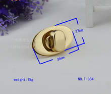 Free shipping bag lock (10 pieces/lot) high-grade gold leather ladies handbags hardware accessories diy bag fashion circle lock(China)