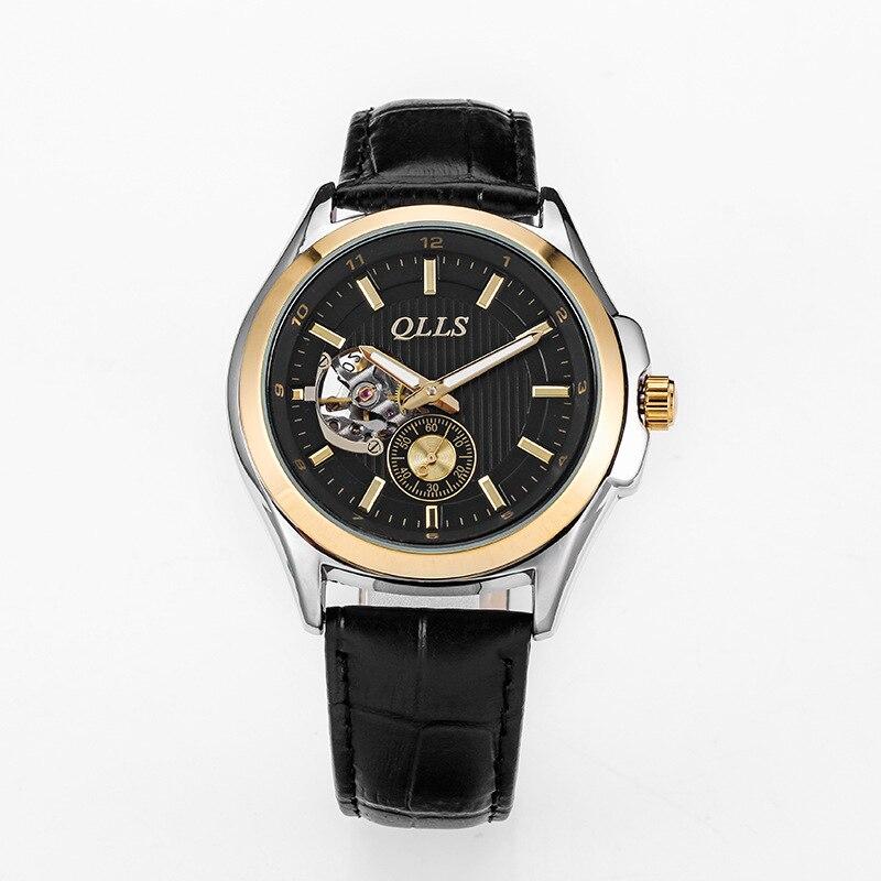 horloges mannen QLLS Mens Watches Top Brand Luxury Automatic mechanical watch Men Clock Skeleton Wristwatch relogio masculino<br>