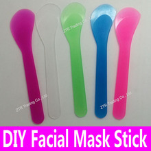1 pc Facial Mask Stick Cosmetic Spatula Scoop DIY Face Mask Spoon Beauty Makeup Mud Mixing Tools White Pink Wholesale Supplier