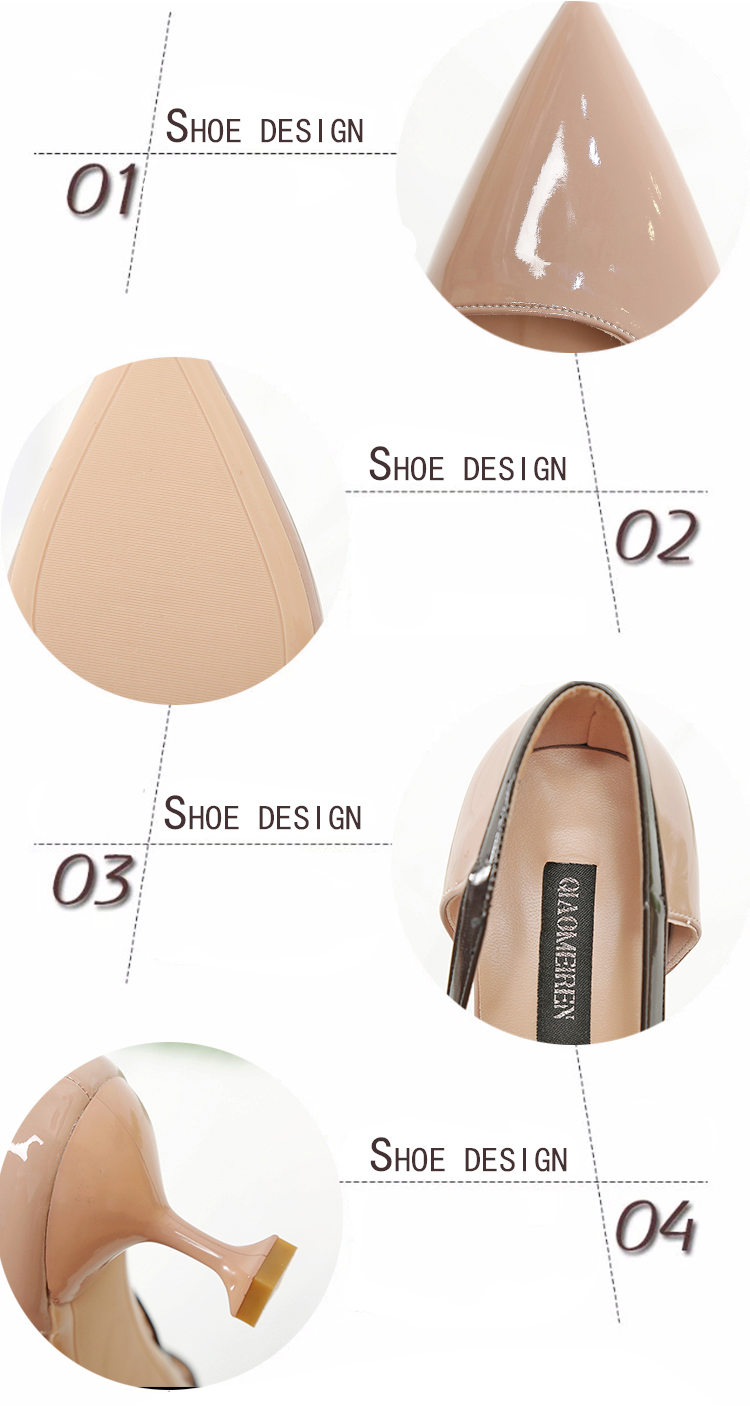Mazefeng 2018 Female Pointed Toe Women High-Heeled Shoes Mature Style Women Simple Shoes Ladies Pumps Shoes Solid Butterfly-Knot