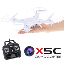 Free shipping Syma X5C x5c-1 Quadrocopter 2.4G 6 Axis GYRO HD Camera RC Quadcopter RTF Helicopter RC Drone with 2.0MP Camera(China)
