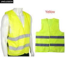 JINGLESZCN Visibility Safety Vest Security Jacket Reflective Strips Protection Clothing Traffic Construction Work Wear Uniforms(China)
