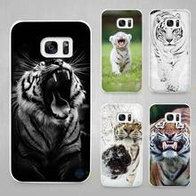 animal tiger Cub Hard White Coque Shell Case Cover Phone Cases for Samsung Galaxy S4 S5 S6 S7 Edge Plus(China)