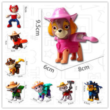 Opp bag!!! High Quality Everest Skye Zuma Chase Rocky Anime Kids Toy Patrol Puppy Canine awed Dog with hat kids best Gift