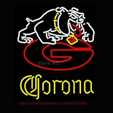 Neon Signs Corona Georgia Bulldogs Uga Neon Bulbs Handcrafted Recreation Room Store Display Neon Tubes Personalized Custom 31x24(China)