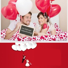 10pcs/lot Romantic 12 Inches 2.2g Red Love Heart Latex Wedding Helium Balloons Valentines Day Birthday Party Inflatable Balloons(China)