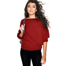 Women Loose Sweaters Casual Pullovers Rib Knit Batwing Jumper Soft Knitwear Sweater