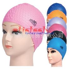 by dhl or ems 100pcs Summer Waterproof Particles Design Swimming Cap Excellent Elastic Silicone Ear Protection(China)