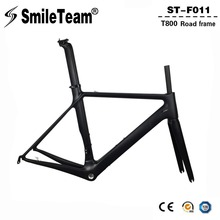 Buy Smileteam T800 Aero Carbon Road Bike Frame Di2 & Mechanical Racing Bicycle Frameset Black Matte Carbon BSA Bicicleta Frames for $393.12 in AliExpress store