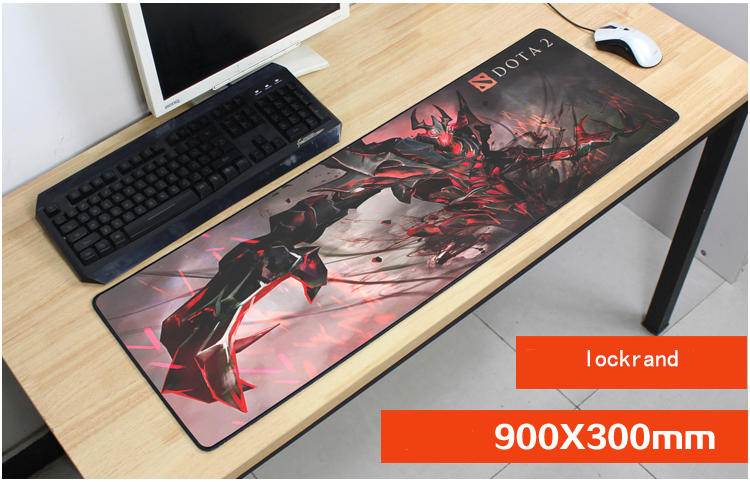 dota mouse pad 90x30mm pad mouse notbook computer mousepad locked edge gaming padmouse gamer large keyboard mouse mats