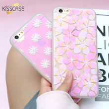 KISSCASE Fashon Luxury Flower Case For iPhone 6s Case iPhone 6 6s Plus Cases Ultra Thin Diamond TPU Cover For Apple iPhone 6 6s