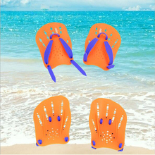 ALBK Hand Swimming Fins Flippers Children Adult Type Training Swimming Fin Mermaid Swim Foot Flipper Adjustable Free Diving Fins(China)