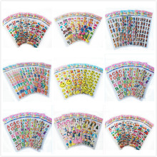 5pcs/lot mix color fruits smile number dress up girls 3D foam stickers party supplies decoration kids gift children toys WYQ(China)