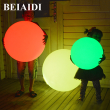BEIAIDI IP68 Outdoor Garden Landscape Light Rechargeable Remote Control RGB Colorful LED swimming pool Floating Ball ball light