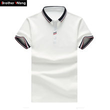 Men Polo Shirt Contrast Color Lapel Slim Casual Fashion POLO Shirt Large Size Solid Color Brand Business Polo Shirt 3XL 4XL 5XL