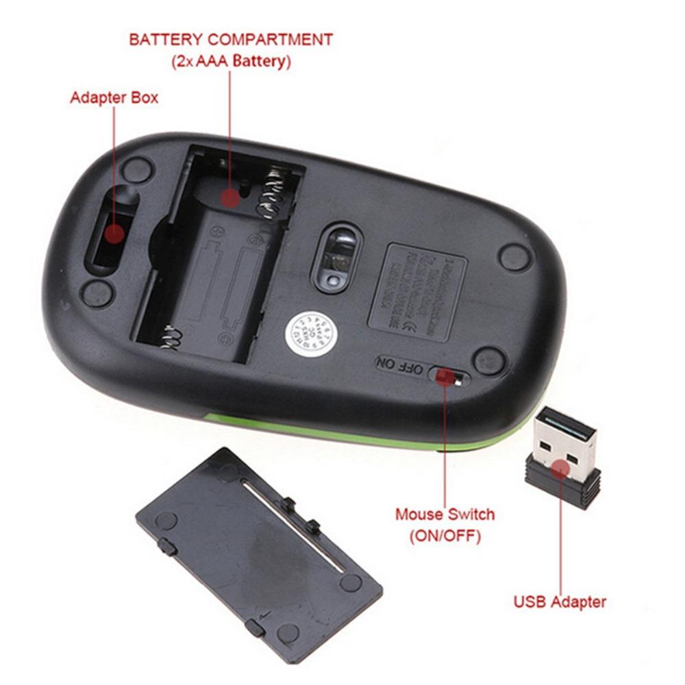 wireless mouse usb mini slim mouse (10)