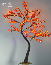 "Free Shipping 4 PCs a Lot Blossom Plum ( Cherry ) Tree Light / 40"" with 128 LED & Flowers Tree light, Nature Trunk Treatment"