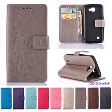Flip Case for LG K4 LTE K 120E 121 130 130E Wallet card slot bracket mobile phone holster for LG K 4 K130E K130 K121 K120E 4.5""